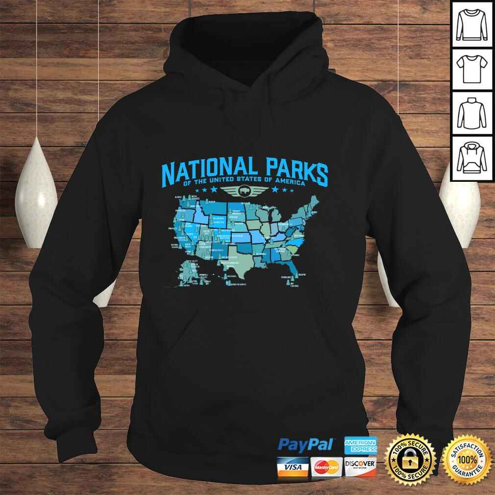 All U.S National Parks Map Camping 80s Graphic Long Sleeve TShirt Gift Hoodie