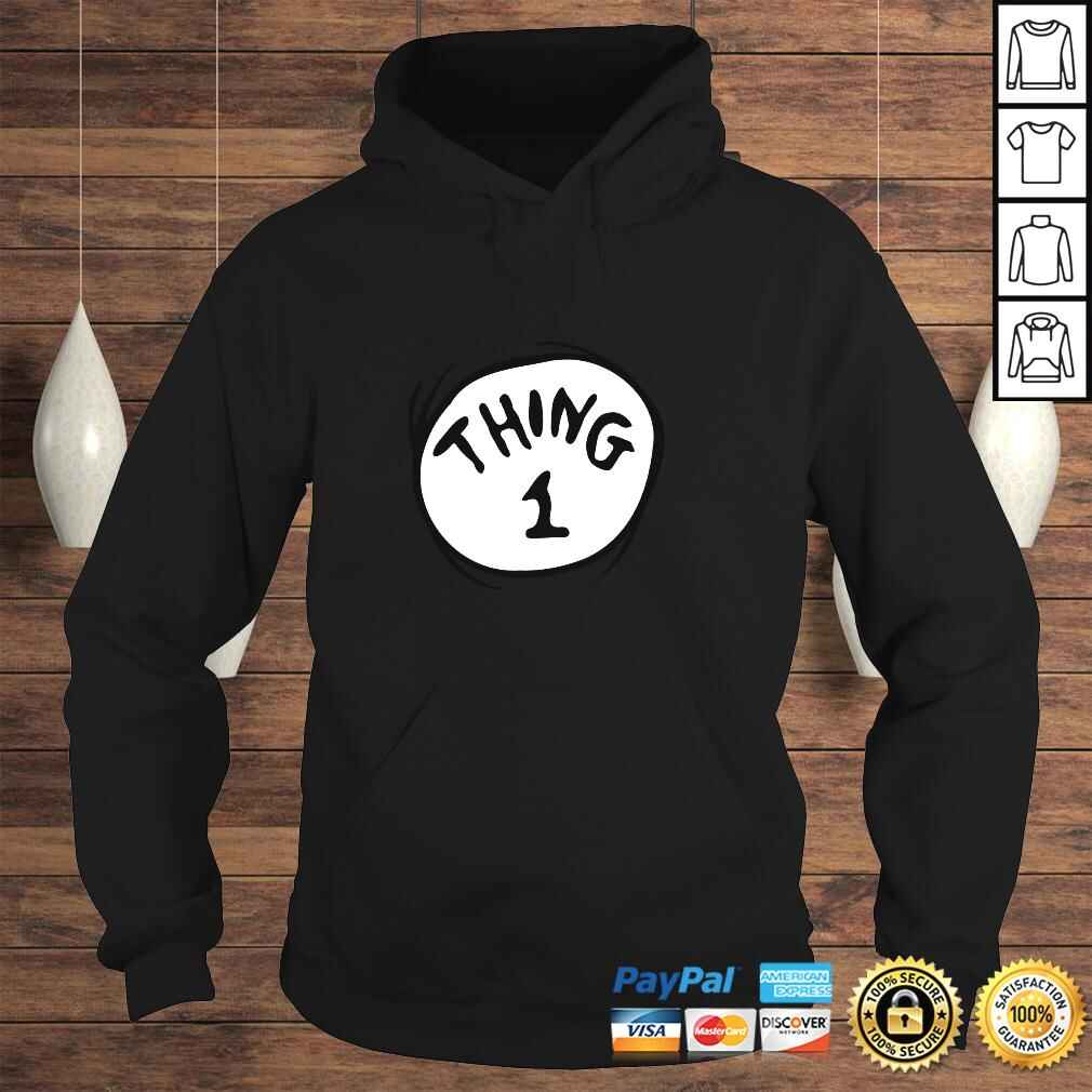 Dr. Seuss Thing 1 Emblem Color Option Pullover Hoodie Hoodie