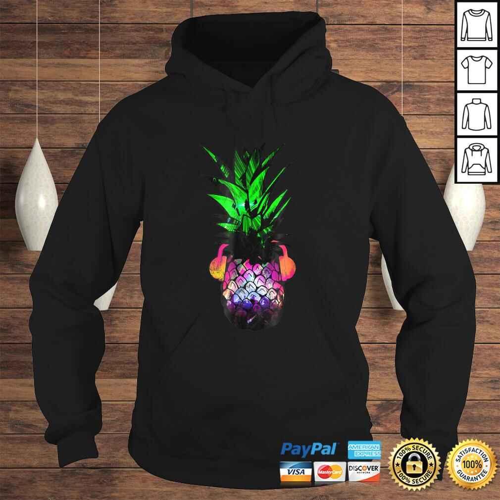 EDM Pineapple EDM Trippy Neon Rave Shirt Festival Dance Hoodie