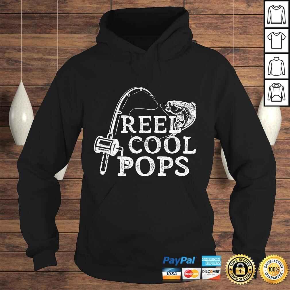 Funny Mens Vintage Reel Cool Pops Fishing Gift For Dad or Grandpa V-Neck T-Shirt Hoodie