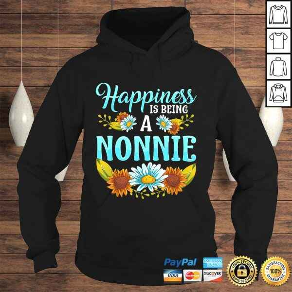Happiness Is Being A Nonnie Cute Floral Mothers Day TShirt