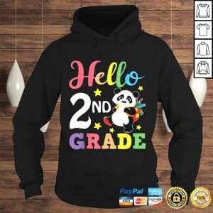 Hello 2nd Grade Cute Panda Back To School Student TShirt