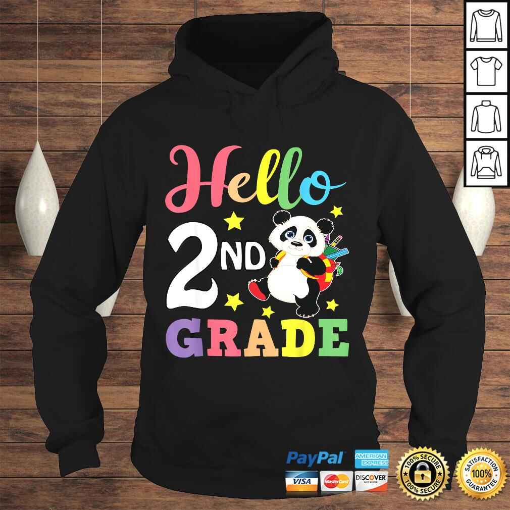 Hello 2nd Grade Cute Panda Back To School Student TShirt Hoodie