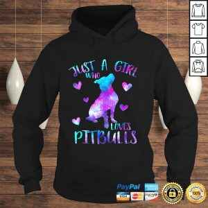 Just a Girl Who Loves Pitbulls Galaxy Space Pitbull Mom Shirt