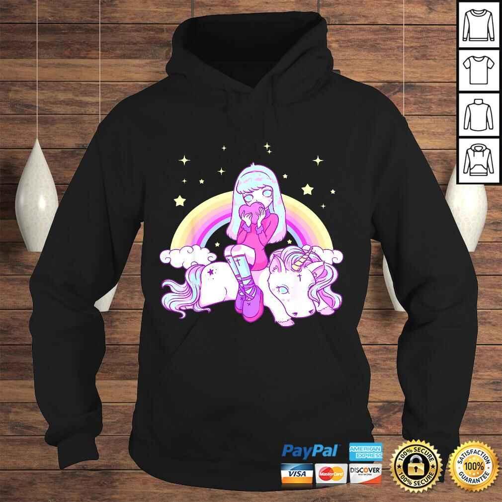 Kawaii Pastel Goth Unicorn Cute Girl Tee Shirt Hoodie