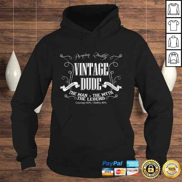 Mens Vintage Dude mens birthday shirt the Man the Myth the Legend