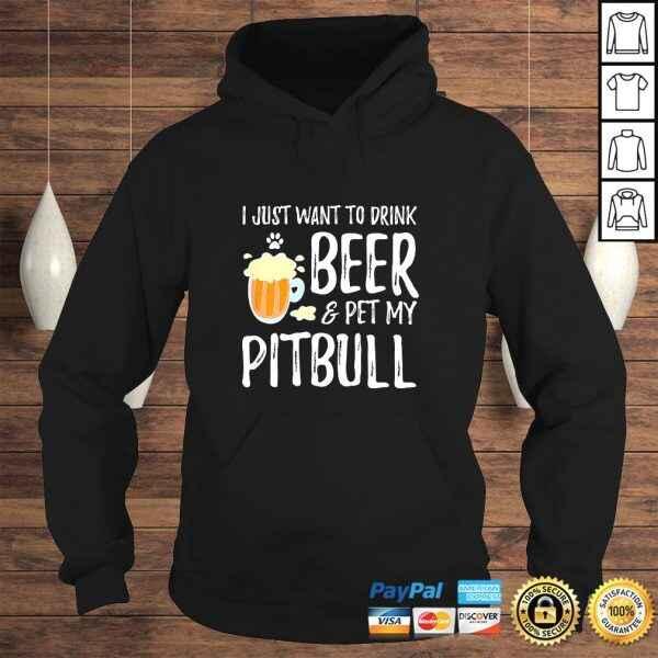 Official Beer and Pitbull Shirt Funny Dog Mom or Dog Dad Gift Idea TShirt