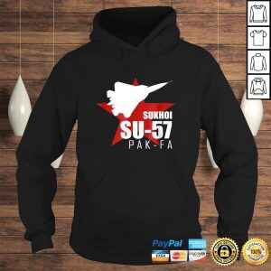 Official Russian Fighter Tee  SU57 PAK FA T-shirt