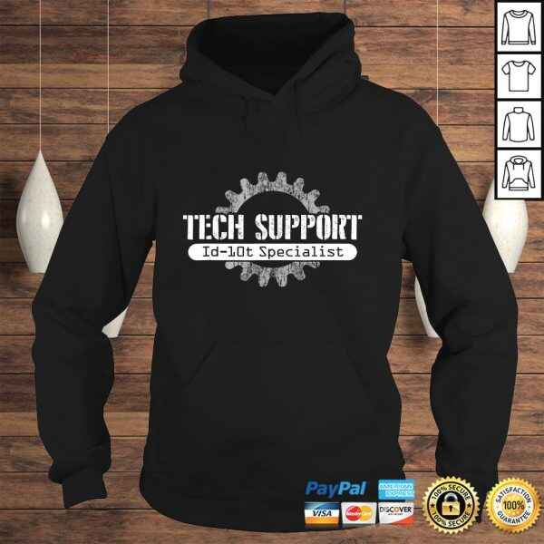 Official Tech Support ID10T Computer Idiot Joke Shirt