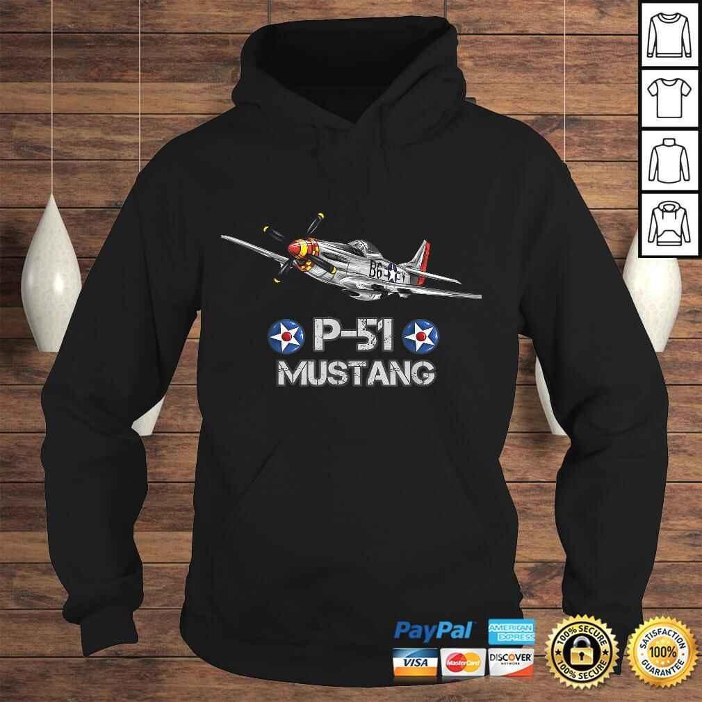 P-51 Mustang Fighter Airplane TShirt Gift Hoodie