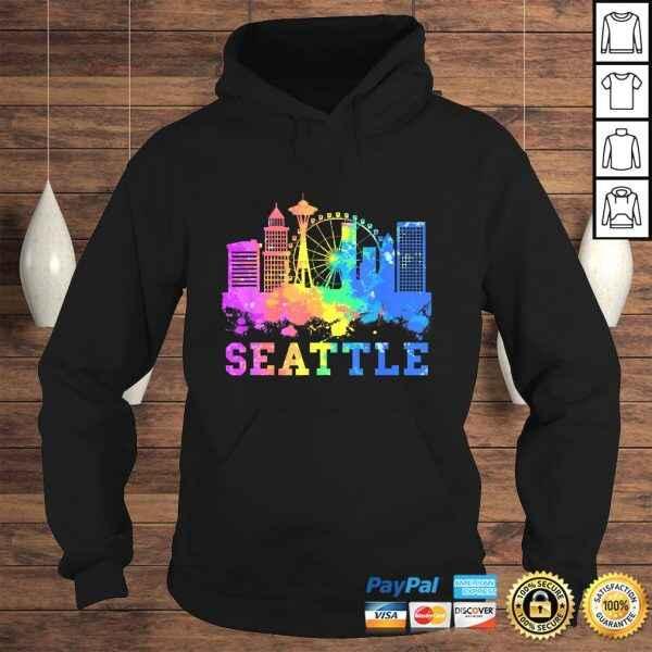 Seattle Washington Skyline Watercolor Souvenir Gift Seattle Gift Top