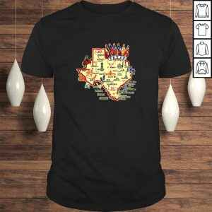 Official Texas State Places of Interest in a stylish Shirt