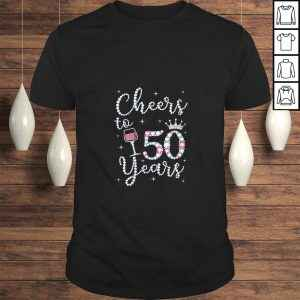 Official Womens Cheers to 50 Years 1969 50Th Birthday Gift Tee For Womens TShirt