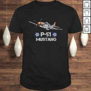 P-51 Mustang Fighter Airplane TShirt Gift