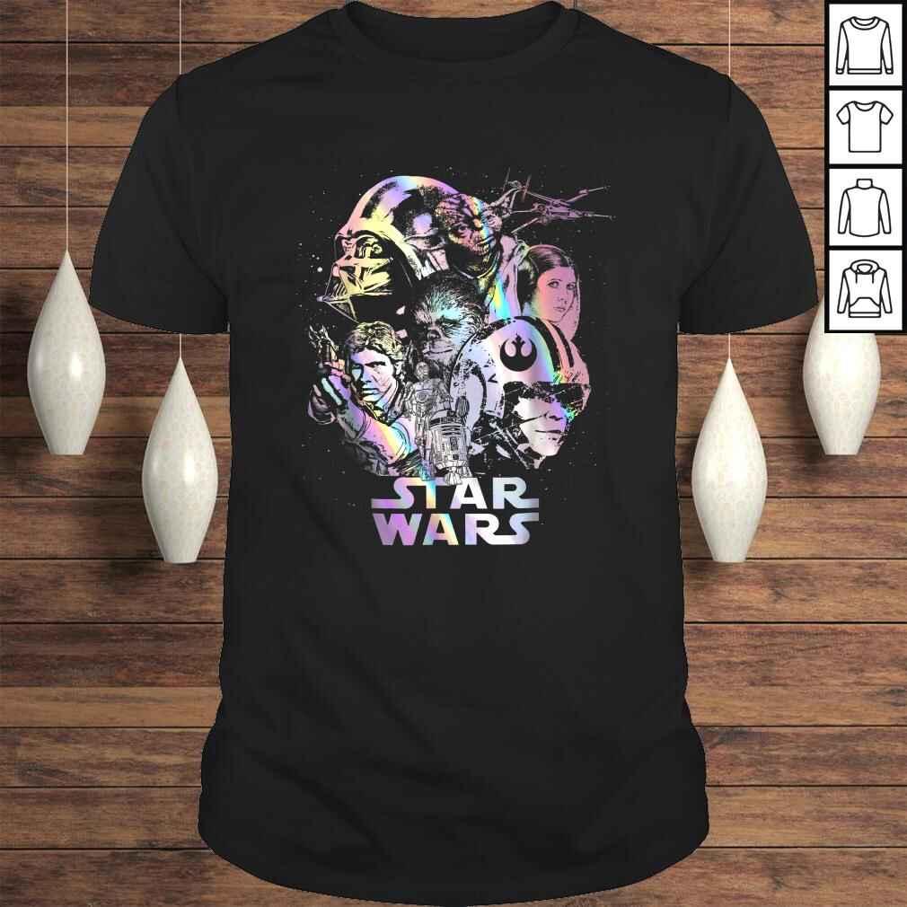 Star Wars Rebel Heroes Darth Vader Glimmer Graphic Shirt Tee Unisex