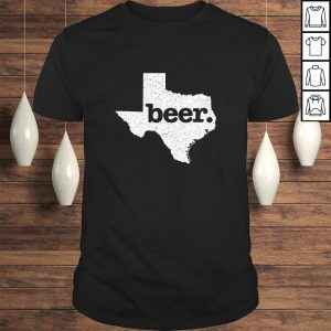 Texas Beer Home Love Distressed Tee Shirt