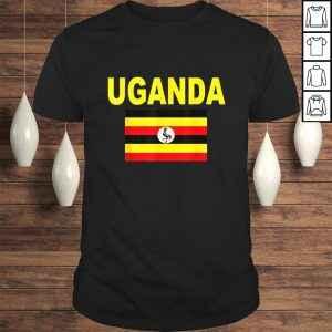 Uganda Flag Shirt Cool Ugandan Travel Flags Top Tee