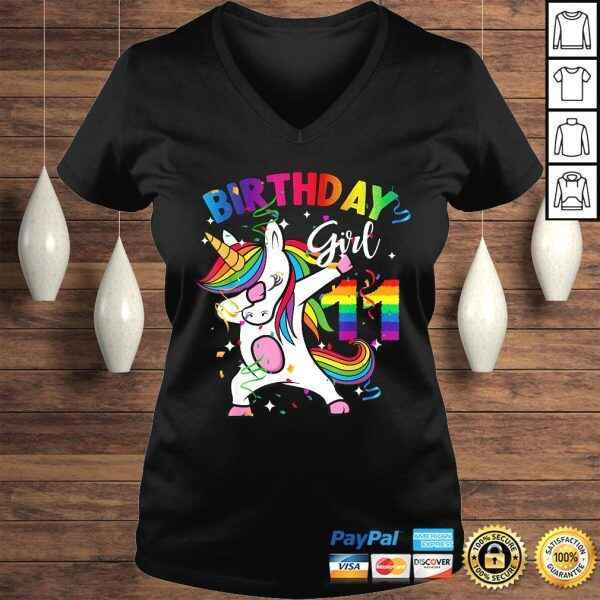 11 Year Old Kid 11th Birthday Gift Dabbing Unicorn T-shirt