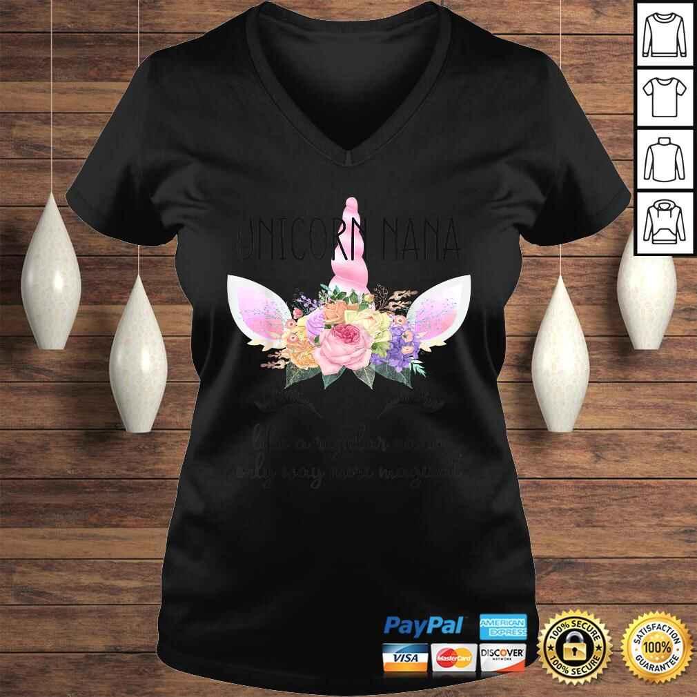 Grandmothers Birthday Gift Shirt for Grandma Unicorn Nana