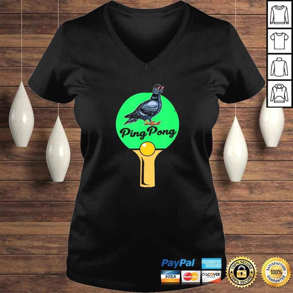Pigeon Ping Pong TShirt Ladies V-Neck