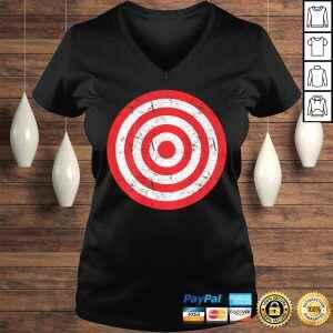 (Print on Back) Vintage Bullseye Target Bulls Eye Gift Joke TShirt Gift