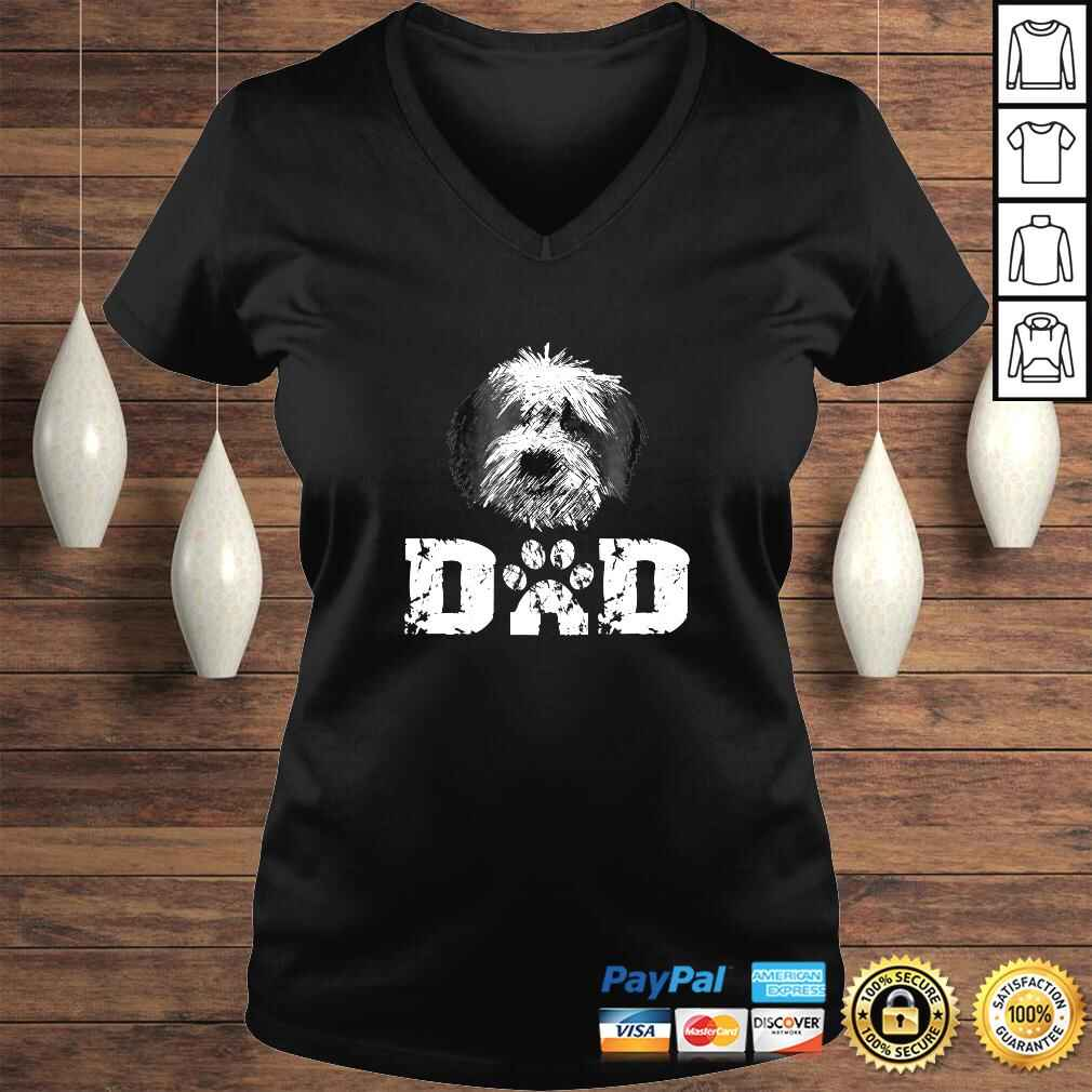 Sheepadoodle Dad Dog Father Tee Shirt Ladies V-Neck