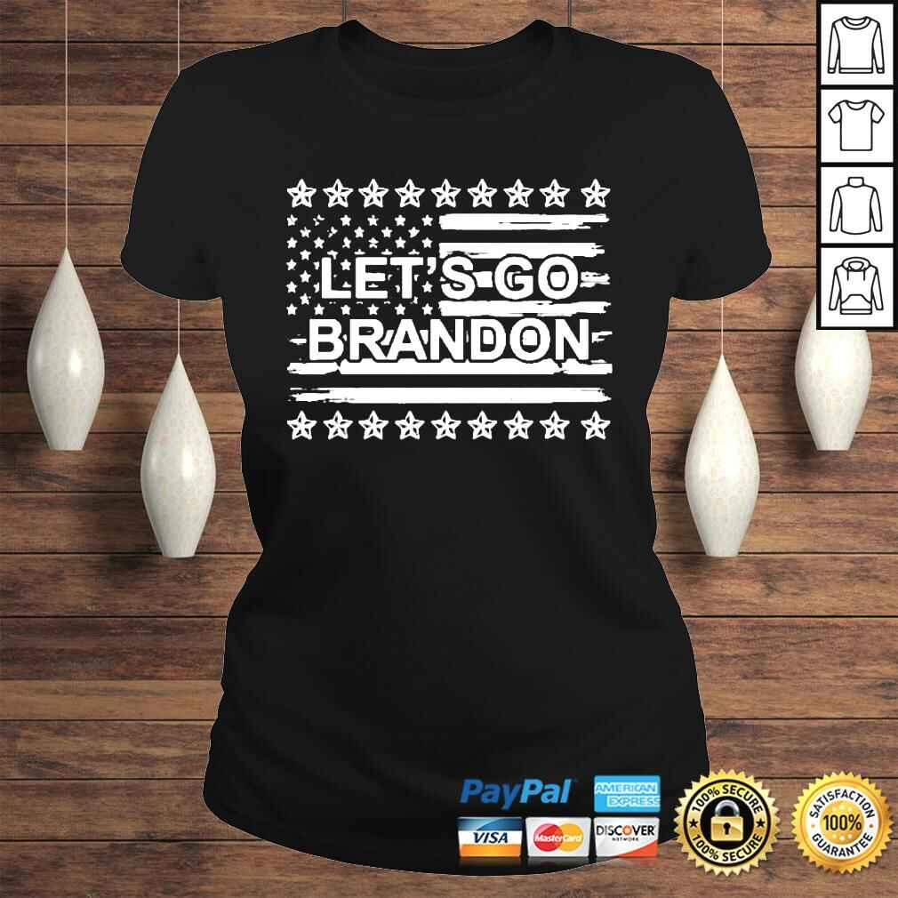 Let's Go Brandon Chant FJB Us Flag Tshirt Classic Ladies Tee