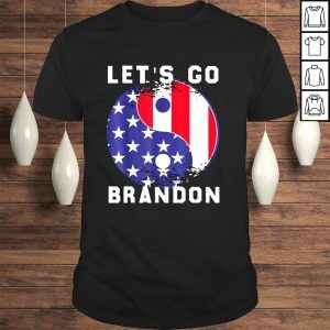 Funny Let's Go Brandon Liberal impeach Star Taegeuk GifT Shirt