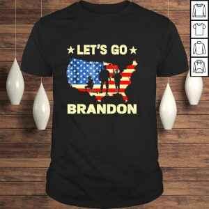Funny Let's Go Brandon Map American Flag Veterans shirt