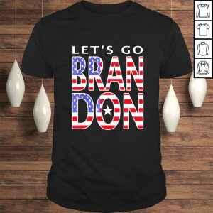 Funny Let's Go Brandon Meme American Flag Impeach 46 Shirt