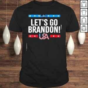 Funny Lets go brandon American flag impeach Biden 2021 Tshirt