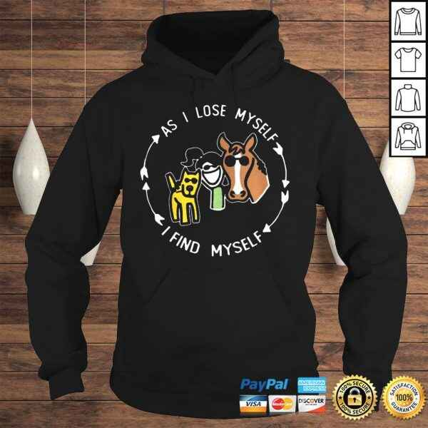 As I Lose Myself I Find Meself Girl Dog And Horse tshirt