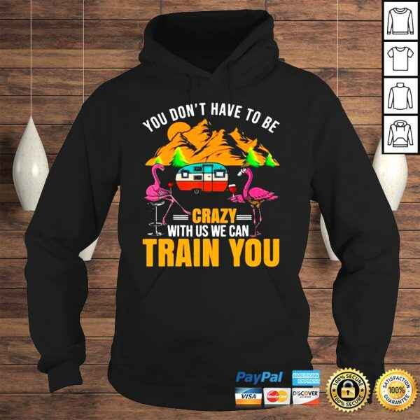Flamingo You Don't Have To Be Crazy With Us We Can Train You Camping t shirt