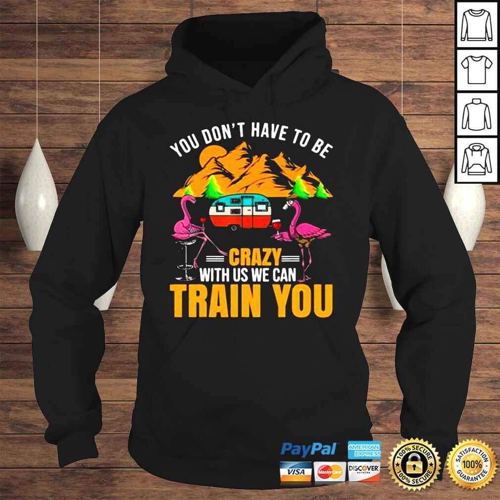 Flamingo You Don't Have To Be Crazy With Us We Can Train You Camping t shirt Hoodie