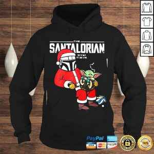 Official Baby Yoda and The Mandalorian the Santalorian spit it out its just a toy Christmas tshirt