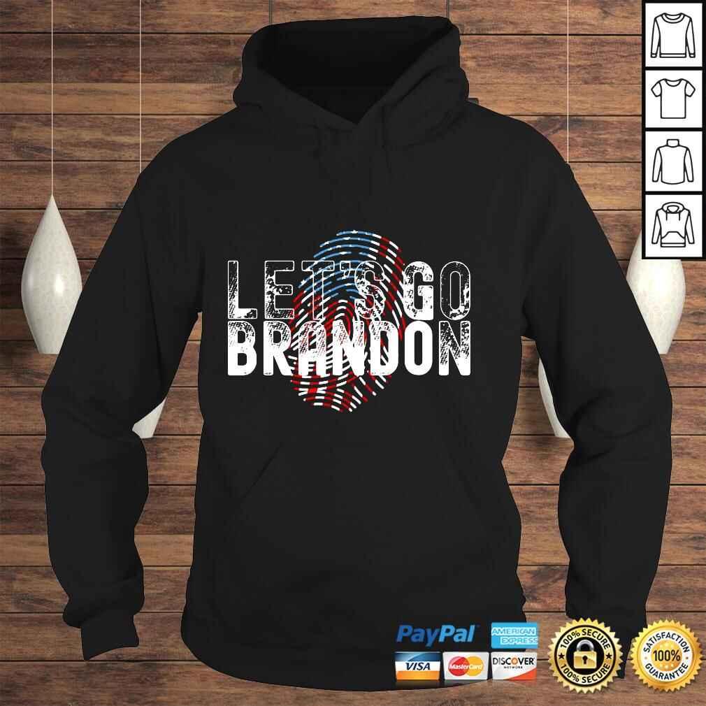 Official Fingerprint American Flag Lets Go Brandon Anti Biden t shirt Hoodie