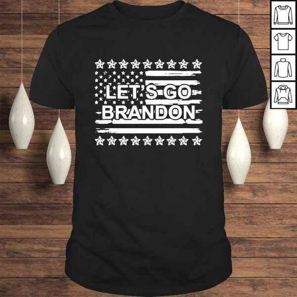 Let's Go Brandon Chant FJB Us Flag Tshirt