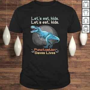 Official Let's eat kids Grammar Dinosaur Trex halloween Funny teacher TShirt