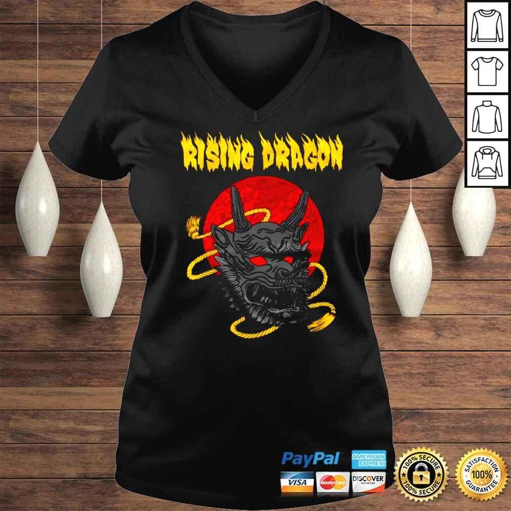 Funny Shingo Takagi Rising Dragon Shirt Ladies V-Neck
