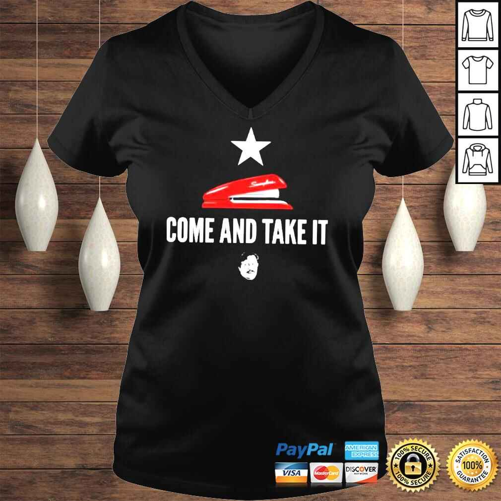 Miltons red stapler come and take it office space TShirt Ladies V-Neck