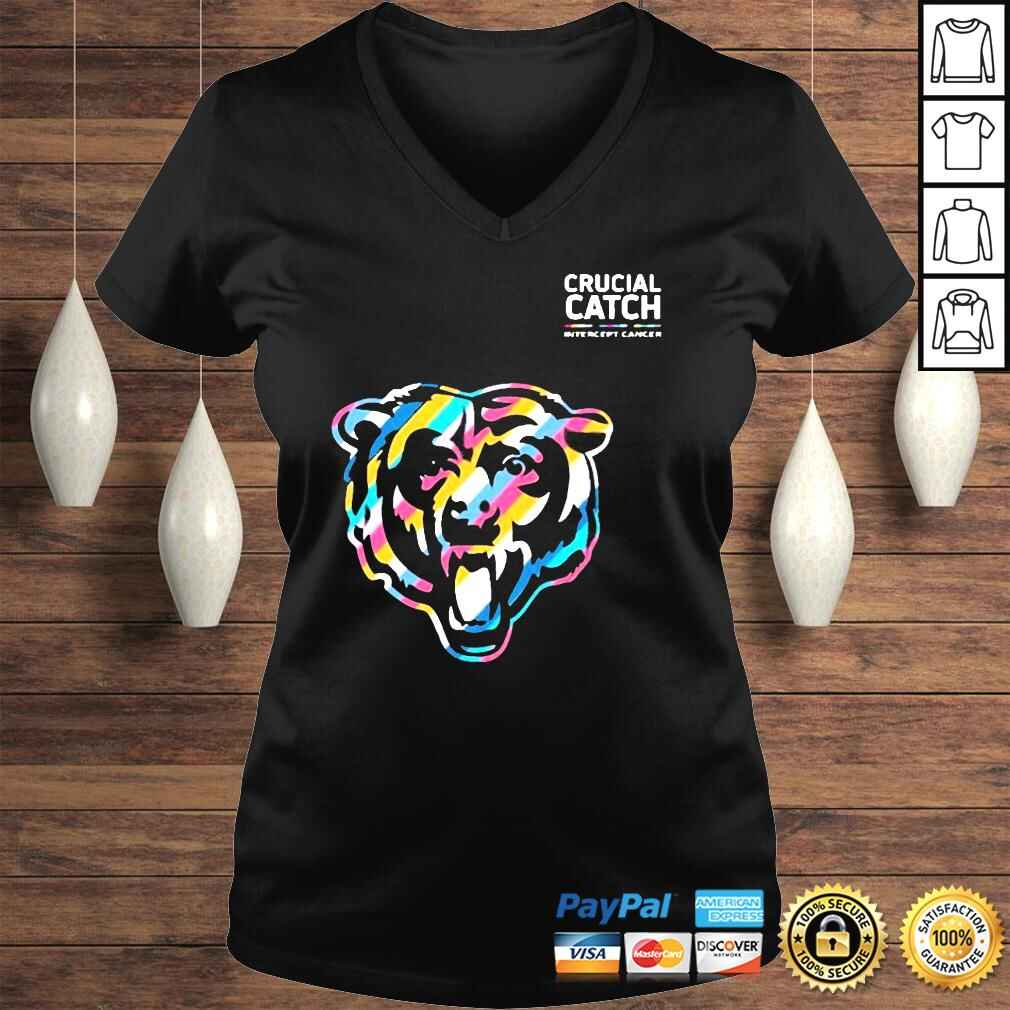 Official Crucial Catch Chicago Bears Shirt Ladies V-Neck