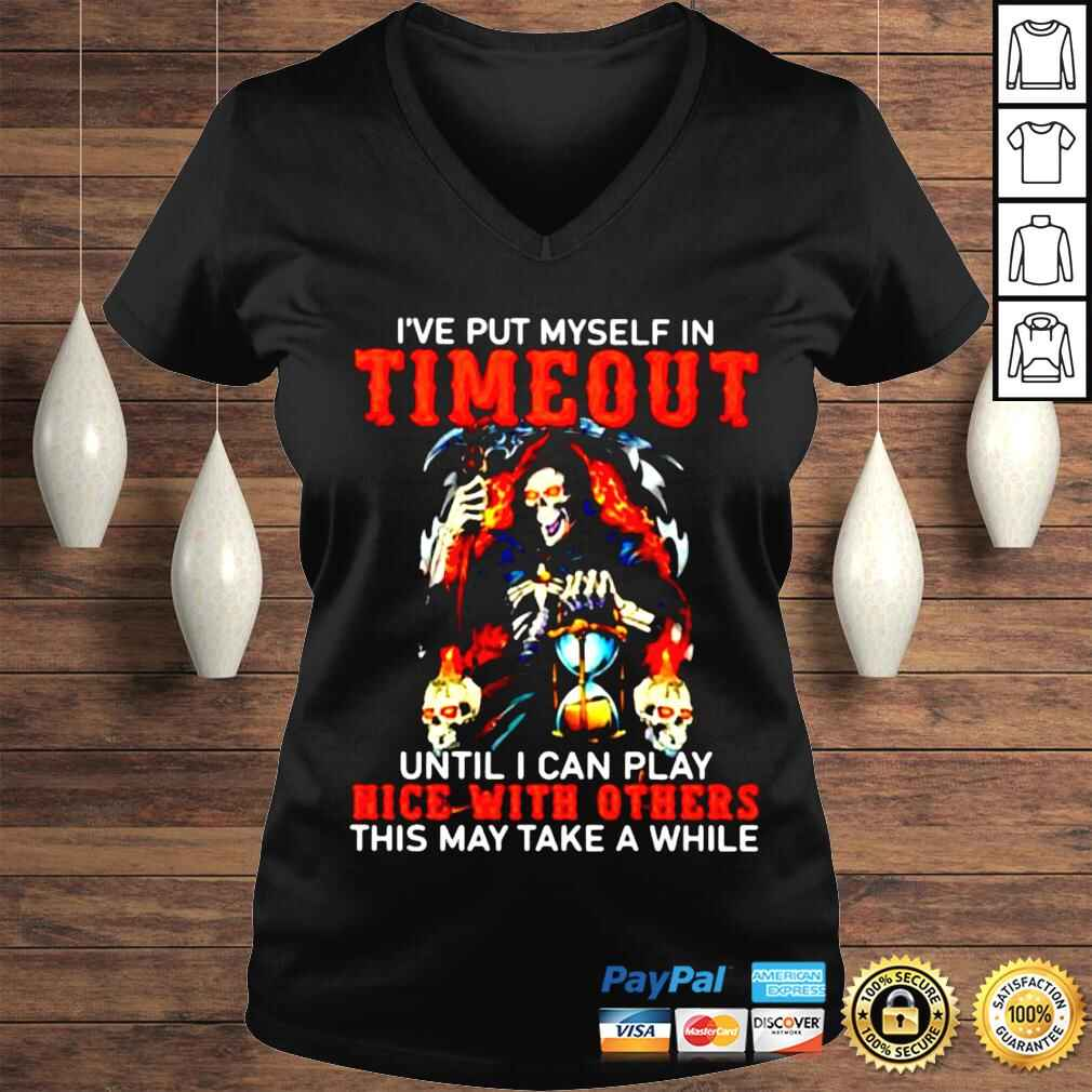 've put myself in timeout until I can play nice with others shirt Ladies V-Neck